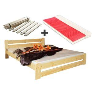 Maxi-drew Postel EUREKA  + sendvičová matrace + rošt bezbarvé 180 x 200 cm