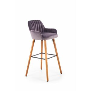 Halmar H93 bar stool, color: dark grey