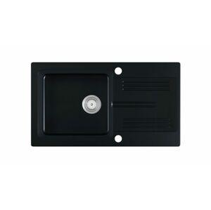 Halmar LANEO sink, color: black matt