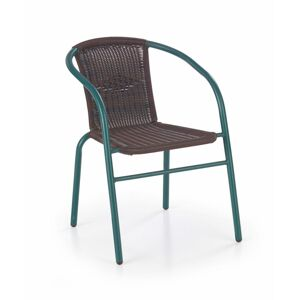Halmar GRAND chair color: dark green / dark brown